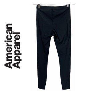 American Apparel Black Nylon Leggings